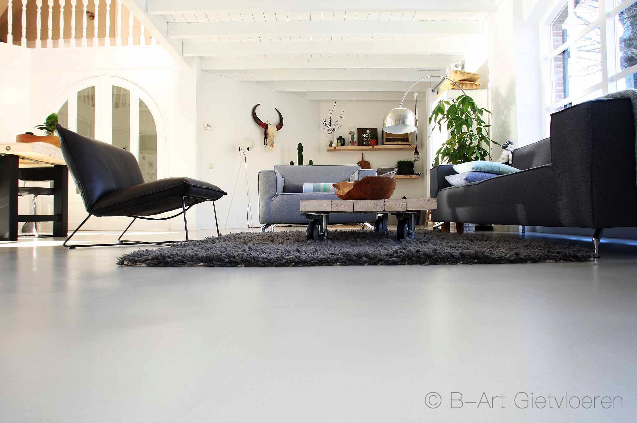 Concrete Art gietvloer woonkamer