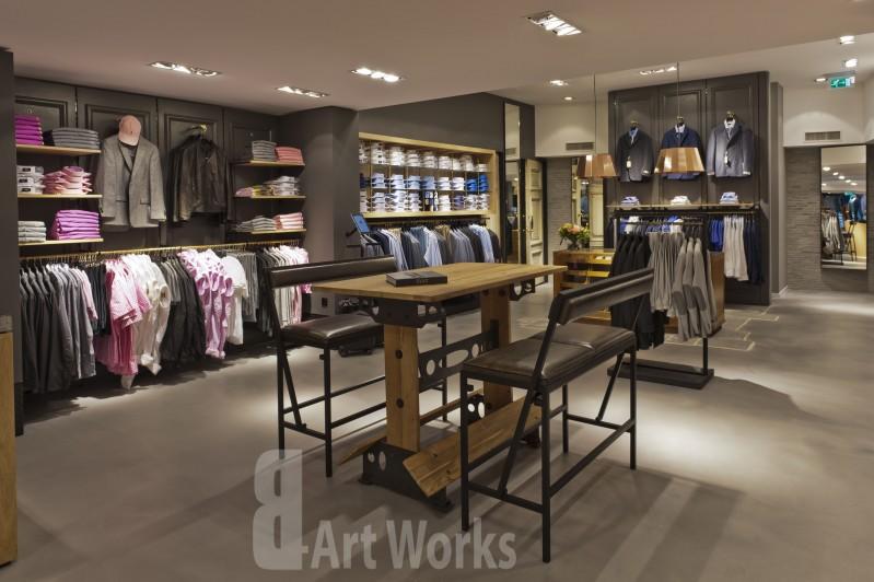 Concrete Art gietvloer in de showroom