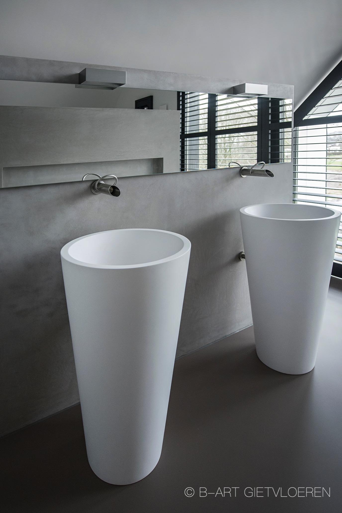 Mono Art gietvloer | Polyurethaan | badkamer | regio Nijmegen