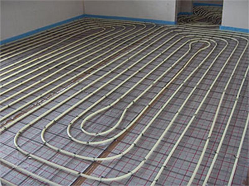 Gietvloer vloerverwarming is zeer energiezuinig